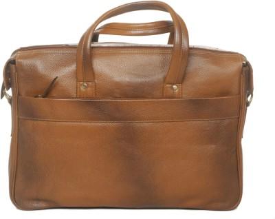 Hidekin 17 inch Laptop Messenger Bag Tan Hidekin Laptop Bags