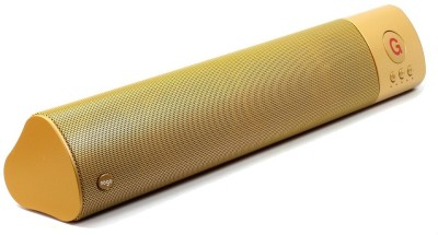 ReTrack WM-1300 L Size High Bass Wireless Soundbar Support Fm TF Card USB Slot Portable Bluetooth Mobile/Tablet Speaker(Gold, 2.1 Channel)
