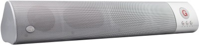 ReTrack WM-1300 L Size High Bass Wireless Soundbar Support Fm TF Card USB Slot Portable Bluetooth Mobile/Tablet Speaker(Silver, 2.1 Channel)