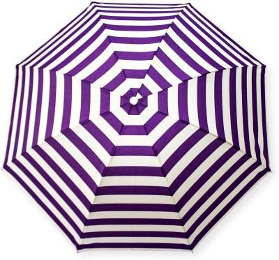 ca1b31c33d9ea 33% OFF on DesiCult 2 Fold VioletVanilla Stripes DCUMB47 Umbrella(White,  Violet)