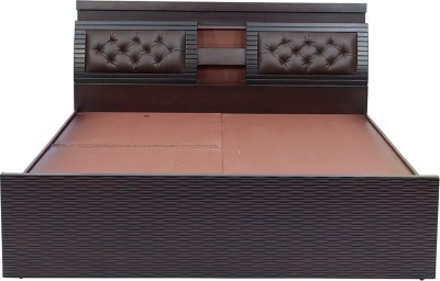 shop klass Solid Wood King Bed With Storage(Finish Color -  brown)