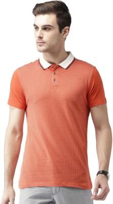 Invictus Printed Men Polo Neck Orange T-Shirt at flipkart