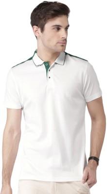 Invictus Solid Men Polo Neck White T-Shirt at flipkart