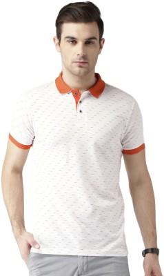 Invictus Printed Men Polo Neck White, Orange T-Shirt at flipkart