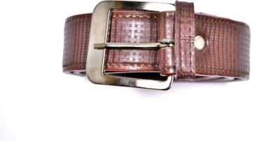 FULTEN Men Formal Brown Artificial Leather Belt