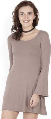 Sassafras Women A-line Brown Dress