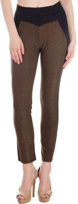 Ziva Fashion Brown Jegging(Checkered)