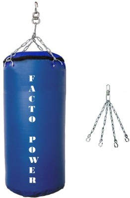FACTO POWER 1.5 FEET LONG , SRF - HEAVY MATERIAL , UNFILLED WITH CHAIN Hanging Bag(1.5, 1 kg)