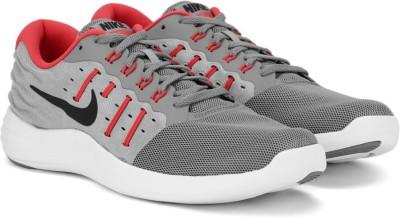 Nike LUNARSTELOS Running Shoes For Men(Red, Black, Grey) 1