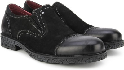 Pavers England Genuine Leather Corporate Casuals(Black) at flipkart