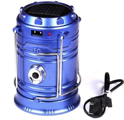Wonder World™ Portable Bright Solar Rechargeable LED Lantern Light with USB Power Bank(Blue)