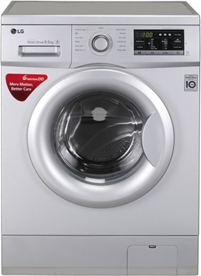 LG 6.5Kg Font Load Fully Automatic Washing Machine Silver (FH0G7WDNL52, Silver)