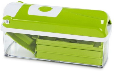 CheckSums 11026 Nicer Dicer Plus For Multi Cutting Vegetables & Fruit Chopper (10 Attachments) Chopper(Green)  available at flipkart for Rs.549