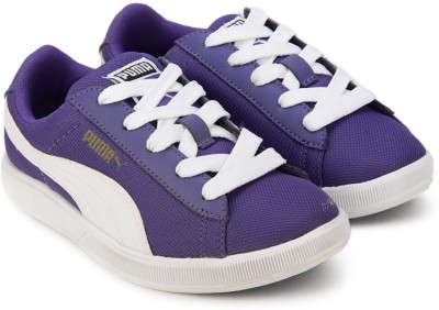 Puma Girls Lace Sneakers(Purple) at flipkart