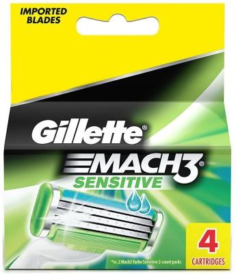 Gillette Mach 3 Sensitive Cartridge Pack of 4