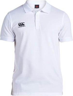 CANTERBURY Solid Men's Polo Neck White T-Shirt