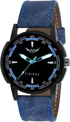VIKINGS Latest Fashion with Black Dial & Jeans style Strap Watch  - For Men & Women   Watches  (VIKINGS)