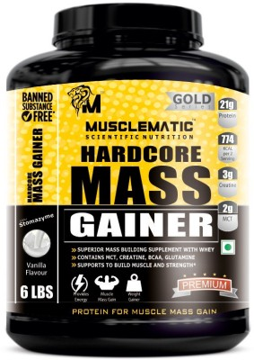 Musclematic Mass Gainers(2.72 kg, vanilla)