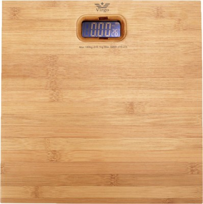 Virgo Wooden bamboo Weighing Scale(light brown)