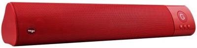 ReTrack WM-1300 L Size High Bass Wireless Soundbar Support Fm TF Card USB Slot Portable Bluetooth Mobile/Tablet Speaker(Red, 2.1 Channel)