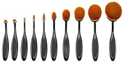 Yosoo New Toothbrush Curve Liquid Foundation Blending Brush-pro(Pack of 10) at flipkart