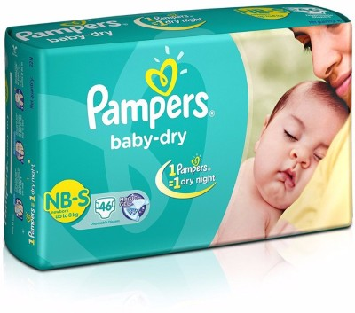 Pampers Baby Dry Diapers, S 46 Pieces