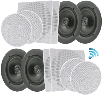 Pyle PDICBT286 Bluetooth Home Audio Speaker(Black, NA Channel)