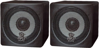 Pyle Home PCB3BK 3-Inch 100-Watt Mini Cube Bookshelf - Pair (Pair) 100 W Home Audio Speaker(Black, Mono Channel)  available at flipkart for Rs.2558