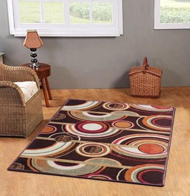 Status Multicolor Wool Carpet(121 cm  X 182 cm) at flipkart