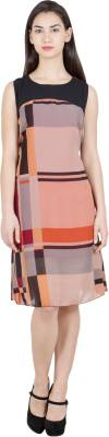 G & M Collections Women's A-line Multicolor Dress