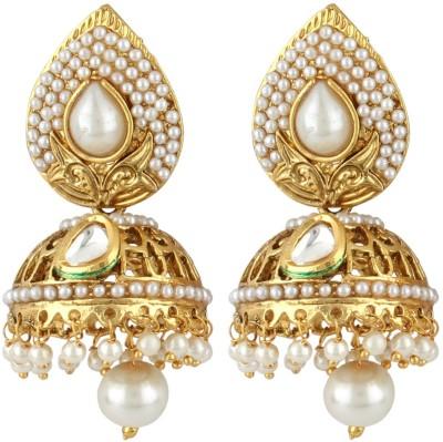 JEWELS GURU diva style Pearl Alloy Jhumki Earring JEWELS GURU Earrings