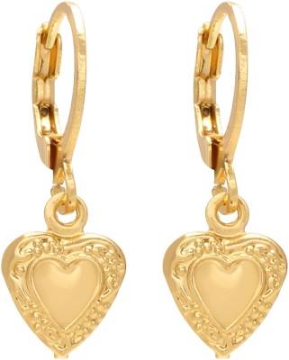 Fasherati Blue Heart Crystal Drop Crystal Alloy Drop Earring