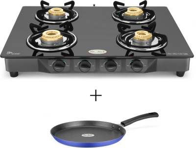 Ideale Quatre-T Steel Manual Gas Stove(4 Burners)