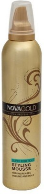 Nova Gold Hair Super Firm Hold Styling Mousse Hair Styler
