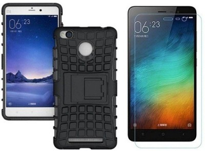 7ROCKS Case Accessory Combo for Xiaomi Redmi 4 Black, Transparent
