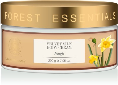 Forest Essentials Velvet Silk Body Cream Nargis(200 g)