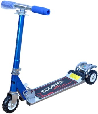 Dhawani Latest Kids Three Wheel Scooter with Tractor Wheel(Blue)