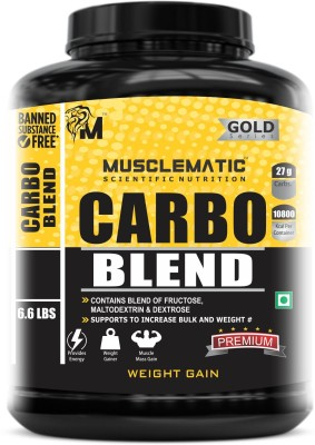Musclematic Mass Gainers(3 kg, unflavour)