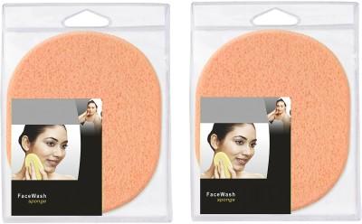 FOK Set Of 2Pcs Face Cleansing Makeup Washing Pad Deep Cleansing   Exfoliating Facial FOK Sponge