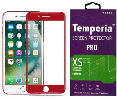 Temperia Tempered Glass Guard for Apple iphone 6s (4.7 inch, Red) (Full Screen Coverage)