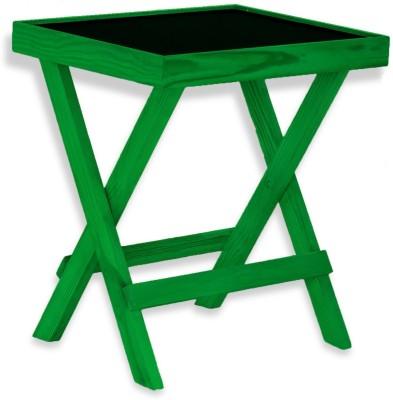 NETWOOD DESIGNER GREEN Solid Wood Side Table(Finish Color - Green Matte Finish)