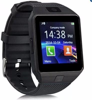 MOBILE LINK Mobile Phones Compatible black Smartwatch(Black Strap Regular)