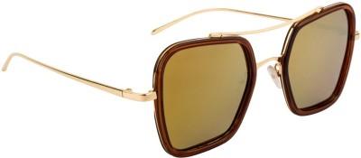 Farenheit Retro Square Sunglasses(Yellow) at flipkart