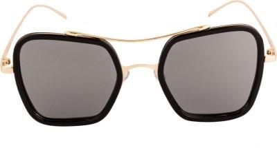 Farenheit Retro Square Sunglasses(Silver) at flipkart