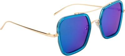 Farenheit Retro Square Sunglasses(Blue) at flipkart