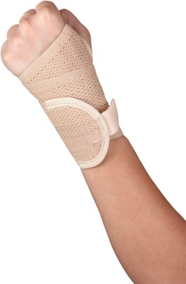 Healthgenie Wrist Brace with Thumb Support One Size Fits Most  1 Pc , Elastic   Breathable Fabric   Adjustable Compression for Wrist Pain   Sports Inj