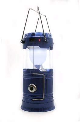 Wonder World™ 120 Lumens Portable Solar Charger Lantern Emergency 6 LED Camping Lantern Waterproof Rechargeable Hand Crank Light Lamp(Blue)