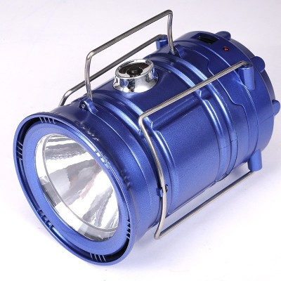 Wonder World® LEDs Rechargeable Camping Light Collapsible Solar Camping Lantern Tent Lights for Outdoor Camping Hiking(Blue)