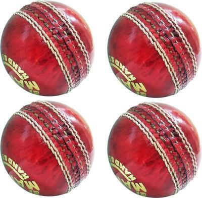 GOLDDUST Match Genuine Leather Hand Sewn Cricket Leather Ball Pack of 4, Red GOLDDUST Cricket Balls