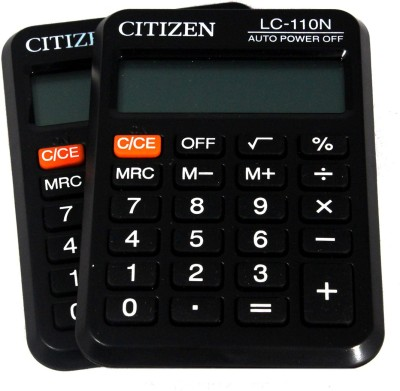 Citizen |Pack of 2| LC-110N Stealodeal |Pack of 2| LC-110N Basic Calculator(8 Digit)